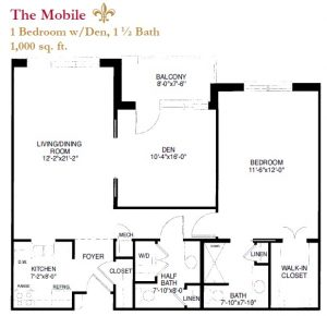 The Mobile floor plan