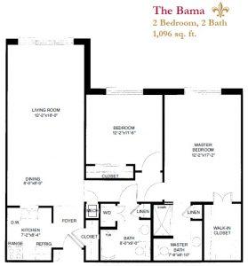 The Bama floor plan