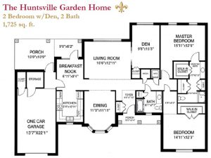 The Huntsville Garden Home floor plan