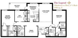 The Legend floor plan