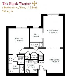 The Black Warrior floor plan