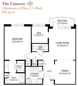 The Crimson floor plan