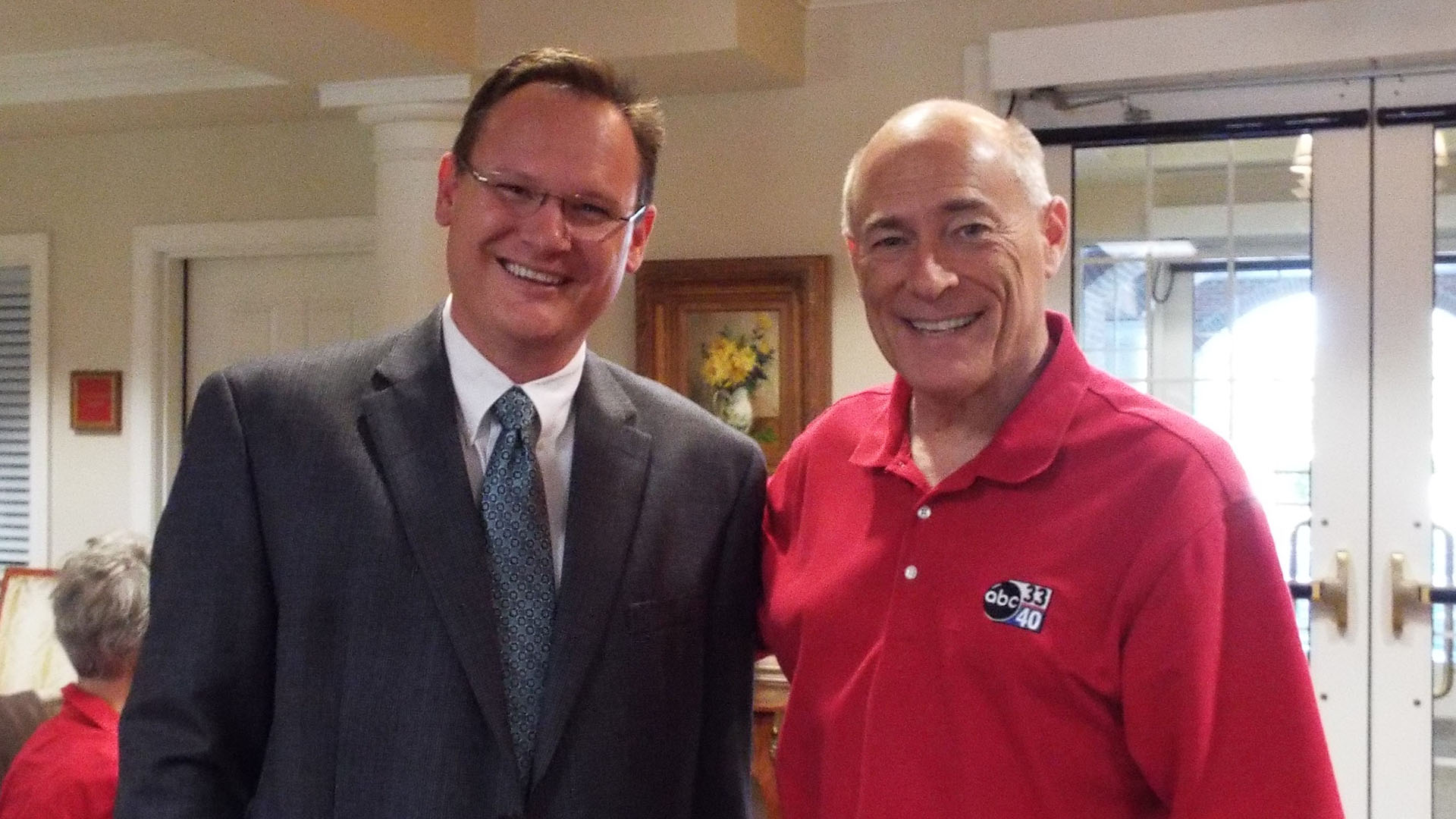 James Spann poses with director